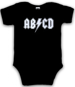 Baby ABCD Creeper- Funny Band Romper for Infants and Toddlers
