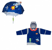 Kidorable Space Hero Rain Coat and Umbrella set