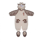 Ivory Baby Snowsuit with Brown Animal Print 3-6 Months