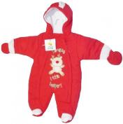 Christmas Theme Santas Little Helper Snowsuit for Infants 3-6 Months