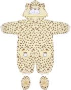 Brown & Cream Leopard Print Baby Snowsuit 3-6 Months