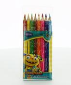 Henry Hugglemonster 8 Monster Triangular Coloured Pencils
