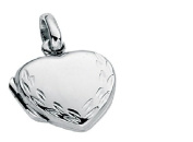 Heart Siver Locket Approx 1 Cm Wide Comes with 18 Inch Silver Chain