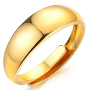 3Aries Classic Resizable Ring Fits All Sizes adjustable ring simple design 18K Gold Plated Copper Ring