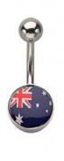 Inox World Cup Austalia Stainless Steel Belly Button Ring