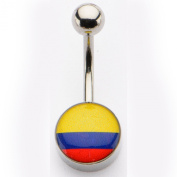 Inox World Cup Columbia Stainless Steel Belly Button Ring