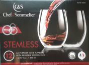 Chef & Sommelier Stemless All-Purpose Wine Tumblers