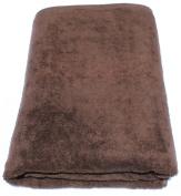 SALBAKOS Luxury Spa 100% Combed Turkish Cotton Large Oversized Eco-Friendly Bath Sheet 100cm x 200cm , Chocolate