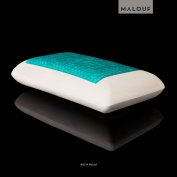 Z® by Malouf Dough® Memory Foam + Liquid Z-Gel Pillow with Removable Velour Cover 5-Year Warranty