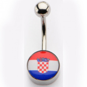 Inox World Cup Croatia Stainless Steel Belly Button Ring