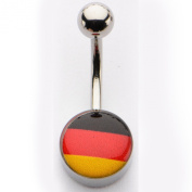 Inox World Cup Germany Stainless Steel Belly Button Ring