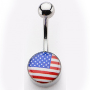 Inox World Cup USA Stainless Steel Belly Button Ring