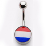 Inox World Cup Netherlands Stainless Steel Belly Button Ring