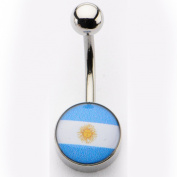 Inox World Cup Argentina Stainless Steel Belly Button Ring