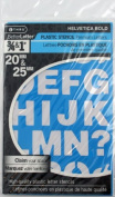 C-Thru Stencil, 1.9cm and 2.5cm Characters, Helvetica Bold Font