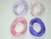 2mm Rattail Satin Cord for Kumihimo 4 6 Yard Pieces 24 Yards Per Package - Purple Mix