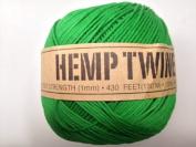 Green Hemp Twine Cord 1mm 143yd 130m 430ft DIY
