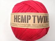 Red Hemp Twine Cord 1mm 143yd 130m 430ft DIY