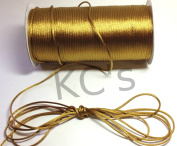 50 Yards - 2mm Old Gold Satin Rattail Cord Chinese/china Knot Rat Tail Jewellery Braid 100% Polyester