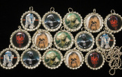 15 STAR WARS Flat Bottle Cap Necklaces for Birthday, Party Favour Set 1