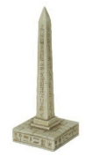 Egyptian Obelisk with Hieroglyphs Paperweight
