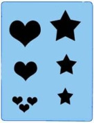 StencilEyes - QuickEZ/Hearts/Stars Group Design Stencil #24