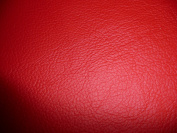 30cm x 30cm Bright Red Cowhide King Leather
