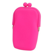 Soft Silicone Cell Phone Pouch Bag with Button for Girls/Ladies-Colour random by TJSpecia