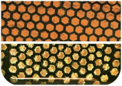 Fuseworks Dichroic Honeycomb 90 COE Fusible 5.1cm -by-7.6cm Glass, Orange, 1-Pack