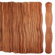 100 Cherry Stain Wavy Jumbo Wood Fan Handles Colour Wedding Fan Sticks