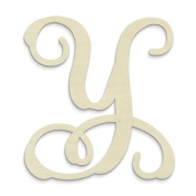 "UNFINISHEDWOODCO Single Vine Monogram Unfinished Letter, 50cm , Letter ""Y"""
