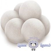 Wool Dryer Balls - 6 Pack 100% Premium Organic Felt Static Guard Laundry Fabric Softener (XL, Handmade, Eco-friendly, Baby Safe and All Natural) - Perfect for Baby Registry Gift Baskets and Sets