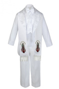 Unotux Boys Christening Baptism Suits Tuxedo White Tail Guadalupe Stole S-7 (L: