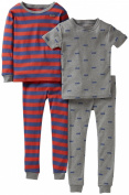 Carter's Little Boys' 4 Piece Striped Cotton Set