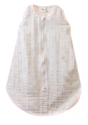 SwaddleDesigns zzZipMe Sack with 2-Way Zipper, Muslin Wearable Blanket, Dots, Pink 3-6 Months