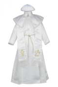 Unotux Baby Boy Christening Baptism Gown Gold Outfit Dove Cross Church Hat 0-30M (3: