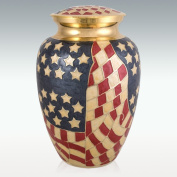 Perfect Memorials Old Glory Brass Cremation Urn