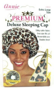 Annie Premium Deluxe Sleeping Cap Leopard Pattern Universal Size (Extra Large Size) #4601