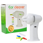NEW Cordless Ear Cleaning Brush Clean Ear Wax Remover Vacuum w 4 Silicone Tips