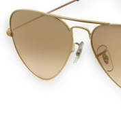 17mm Gold Clip-on PVC Nose Pad Replacements for Ray Ban Sunglasses - 2 Pair