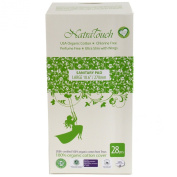 Natratouch Organic Sanitary Pads Ultra Slim with Wings 28 piece