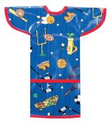 AM PM Kids! Sleeved Toddler Laminated Bib, Sports