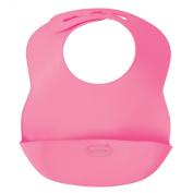 Summer Infant Bibbity Rinse and Roll Portable Bib, Pink