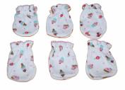 6 Pairs Cotton Newborn Baby/infant Girl No Scratch Mittens Gloves - Litte Cupcake