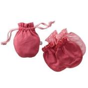 Babysoy Baby Girls' Soft Mittens Set