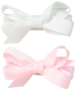 No Slippy Hair Clippy Baby-Girls Newborn Bridget Two Pack Bow