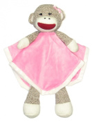 Sock Monkey Snuggle Buddy Rattle by Baby Starters - Hot Pink - Not Applicable