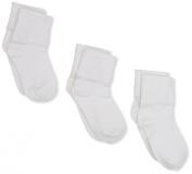 Jefferies Socks Baby-girls Infant Seamless Tatted Edge Socks 3 Pair Pack