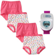 Gerber 4 Pack Training Pants with Potty Watch Timer, Girl, 3T