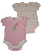 Happi by Dena - Newborn Girls 2 Piece Short Sleeve Bodysuit Set